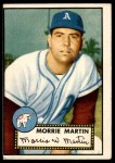 1952 Topps #131 CRM Morrie Martin  Front Thumbnail