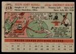 1956 Topps #218  Joe Nuxhall  Back Thumbnail