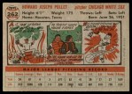 1956 Topps #262  Howie Pollet  Back Thumbnail