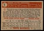 1952 Topps #16  Gene Hermanski  Back Thumbnail