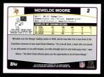 2006 Topps #2  Mewelde Moore  Back Thumbnail