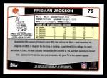 2006 Topps #76  Frisman Jackson  Back Thumbnail