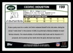 2006 Topps #199  Cedric Houston  Back Thumbnail