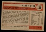 1954 Bowman #49  Harry Byrd  Back Thumbnail