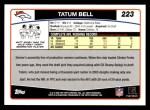 2006 Topps #223  Tatum Bell  Back Thumbnail