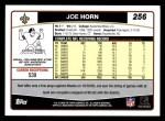 2006 Topps #256  Joe Horn  Back Thumbnail