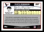 2006 Topps #257  Dunta Robinson  Back Thumbnail