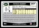 2006 Topps #267  Patrick Ramsey  Back Thumbnail