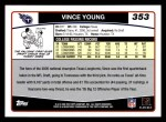 2006 Topps #353  Vince Young  Back Thumbnail