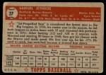1952 Topps #27  Sam Jethroe  Back Thumbnail