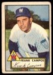 1952 Topps #307 xSTR Frank Campos  Front Thumbnail