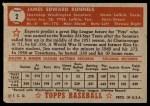 1952 Topps #2  Pete Runnels  Back Thumbnail