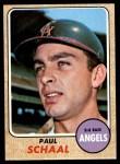 1968 Topps #474  Paul Schaal  Front Thumbnail
