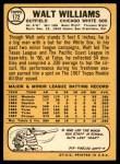 1968 Topps #172  Walt Williams  Back Thumbnail