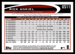 2012 Topps Update #11  Rick Ankiel  Back Thumbnail