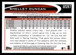 2012 Topps Update #97  Shelley Duncan  Back Thumbnail