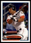 2012 Topps Update #185  Donovan Solano  Front Thumbnail