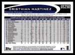 2012 Topps Update #250  Cristhian Martinez  Back Thumbnail