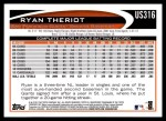 2012 Topps Update #316  Ryan Theriot  Back Thumbnail