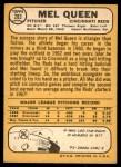 1968 Topps #283  Mel Queen  Back Thumbnail