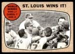 1968 Topps #157   -  Bob Gibson / Tim McCarver / Orlando Cepeda / Bobby Tolan World Series - Game #7 - St. Louis Wins It! Front Thumbnail