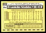 1990 Topps Traded #120 T Franklin Stubbs  Back Thumbnail
