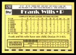 1990 Topps Traded #129 T Frank Wills  Back Thumbnail