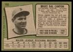 1971 Topps #168  Bruce Dal Canton  Back Thumbnail