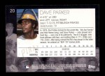 2001 Topps American Pie #20  Dave Parker  Back Thumbnail