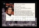 2001 Topps American Pie #42  Jack Clark  Back Thumbnail