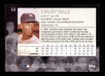 2001 Topps American Pie #58  Maury Wills  Back Thumbnail