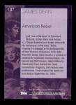 2001 Topps American Pie #147  James Dean  Back Thumbnail