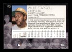 2001 Topps American Pie #93  Willie Stargell  Back Thumbnail