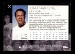 2001 Topps American Pie #50  Juan Marichal  Back Thumbnail