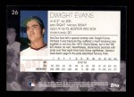 2001 Topps American Pie #26  Dwight Evans  Back Thumbnail