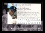 2001 Topps American Pie #108  Lou Whitaker  Back Thumbnail