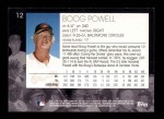 2001 Topps American Pie #12  Boog Powell  Back Thumbnail