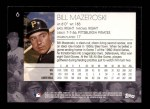 2001 Topps American Pie #6  Bill Mazeroski  Back Thumbnail