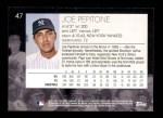 2001 Topps American Pie #47  Joe Pepitone  Back Thumbnail