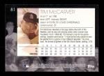2001 Topps American Pie #81  Tim McCarver  Back Thumbnail