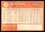 1964 Topps #458  Ralph Terry  Back Thumbnail