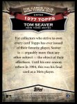 2010 Topps Cards Your Mom Threw Out #84 CMT Tom Seaver  Back Thumbnail