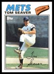 2010 Topps Cards Your Mom Threw Out #84 CMT Tom Seaver  Front Thumbnail