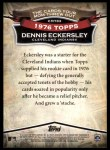 2010 Topps Cards Your Mom Threw Out #83 CMT Dennis Eckersley  Back Thumbnail