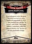 2010 Topps Cards Your Mom Threw Out #79 CMT Juan Marichal  Back Thumbnail