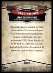 2010 Topps Cards Your Mom Threw Out #74 CMT Jim Bunning  Back Thumbnail