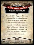 2010 Topps Cards Your Mom Threw Out #52 CMT Kevin Youkilis  Back Thumbnail