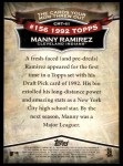 2010 Topps Cards Your Mom Threw Out #41 CMT Manny Ramirez  Back Thumbnail