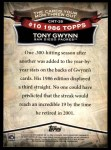 2010 Topps Cards Your Mom Threw Out #35 CMT Tony Gwynn  Back Thumbnail
