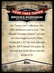 2010 Topps Cards Your Mom Threw Out #13 CMT Brooks Robinson  Back Thumbnail